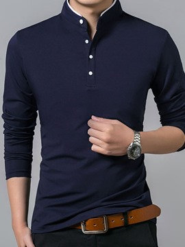 Ericdress Casual Stand Collar Polo Shirt