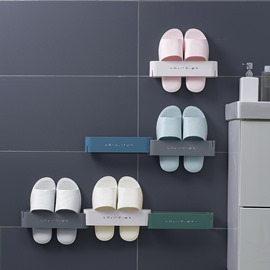 Ericdress Bathroom Wall-Mounted Slippers Simple Shoe Rack Care