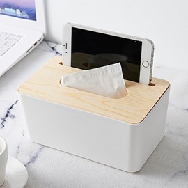 Ericdress Tissue Box Wood Simple Storage Boxes