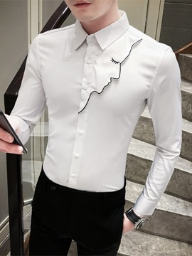 Ericdress Casual Patchwork Lapel Summer Single-Breasted Shirt