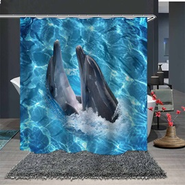 Ericdress Dolphin Print Shower Curtain Bathroom Supplies