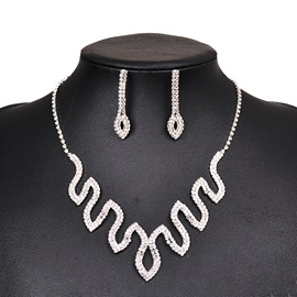Ericdress Necklace Diamante Party Women's Jewelry Sets