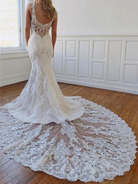 Ericdress Straps Sleeveless Trumpet/Mermaid Chapel Hall Wedding Dress