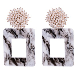 Ericdress Acrylic Pearl Inlaid Anniversary Earrings