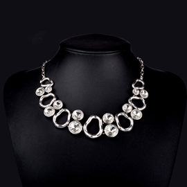 Ericdress Crystal Inlaid Pendant Necklace Female Necklaces