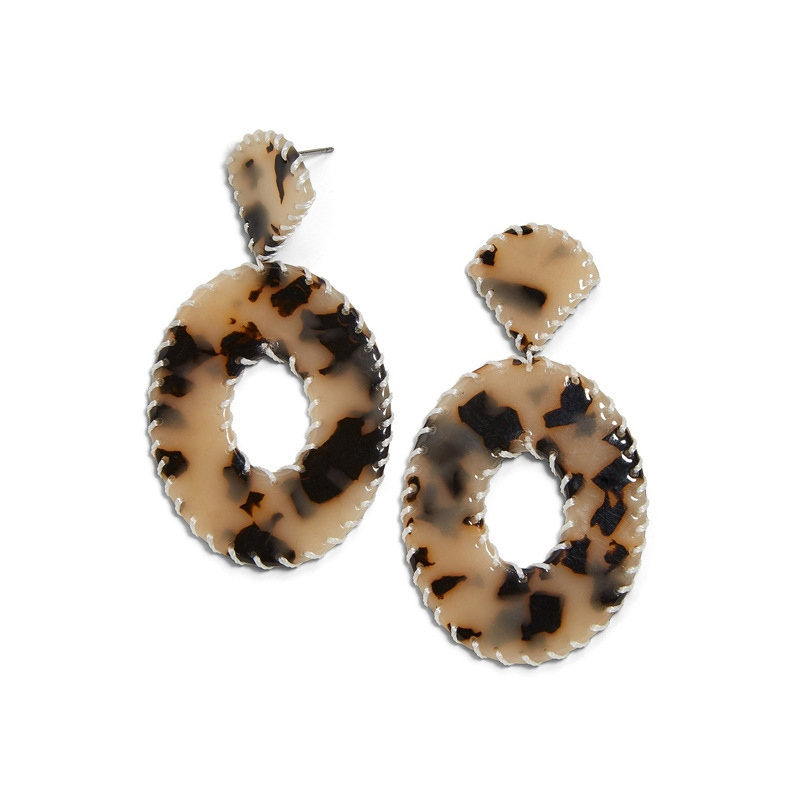 Ericdress Acrylic Leopard Birthday Earrings