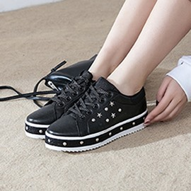 Ericdress Low-Cut Upper Lace-Up Rivet Casual Sneakers