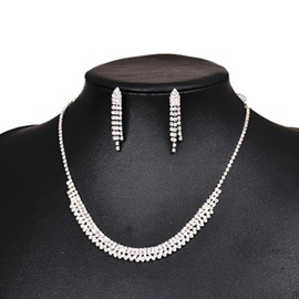 Ericdress Necklace Diamante Prom Jewelry Sets