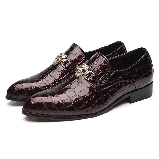 Ericdress Low-Cut Upper Flat With Pointed Toe Leather Men's Shoes