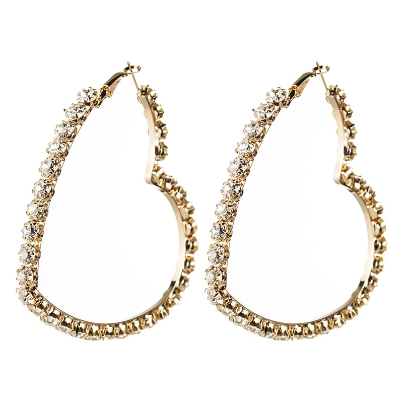 Ericdress Diamante Heart-Shaped Party Earrings