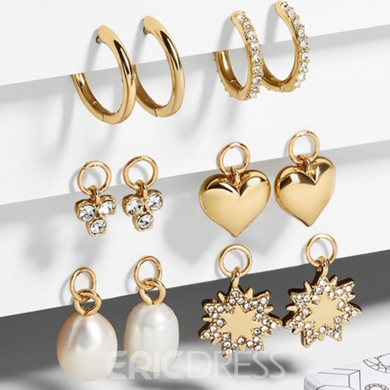 Ericdress Sweet Diamante Birthday Earrings