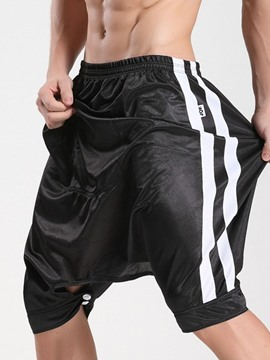 Ericdress Baggy Pants Loose Stripe Low Waist Elastics Shorts