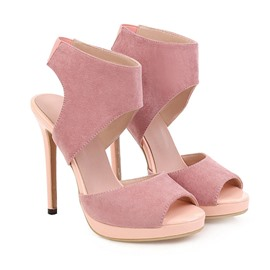 Ericdress Peep Toe Stiletto Heel Slip-On Casual Women's Sandals