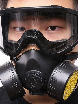 Ericdress Protective Glasses Double Can Gas Mask Air Valve