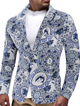 Ericdress Print Notched Lapel Vintage Men's Leisure Blazers