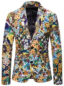 Ericdress Fashion Notched Lapel Floral Men's Leisure Blazers