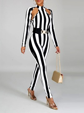 juicuit ericdress stripe sexy hollow skinny pencil pants