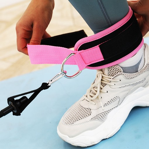 1 Set Pull Rope Exercise Bands Leg Training Hips Fitness Elastic Band Foot Loop Leggings Buckle Ankle Strap Set Home Workout