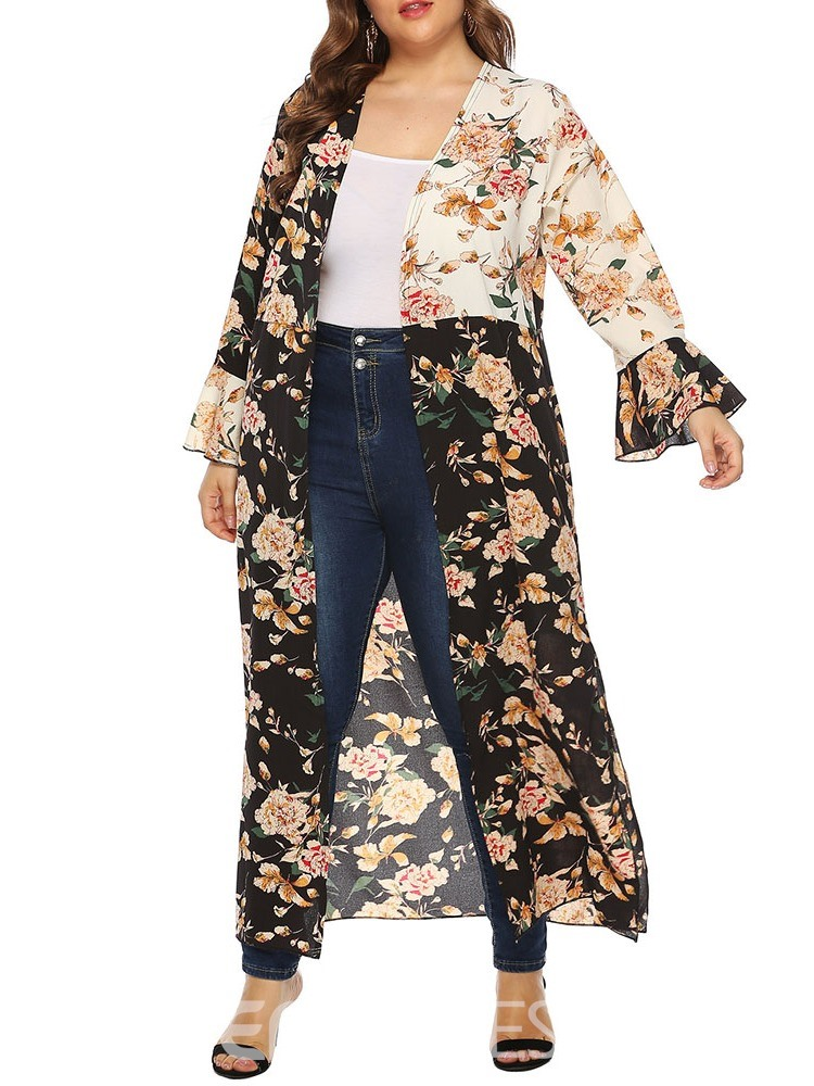 Ericdress Long Casual Long Sleeve Trench Coat