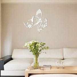 Ericdress Flower Butterfly Design White Wall Poster