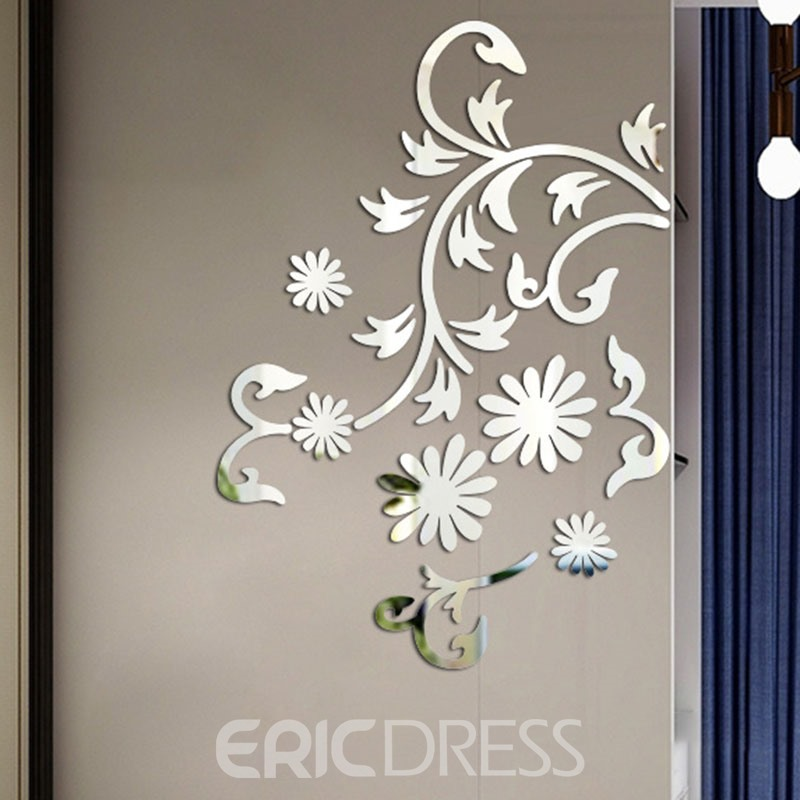 Ericdress Flower Design Sliver Wall Poster