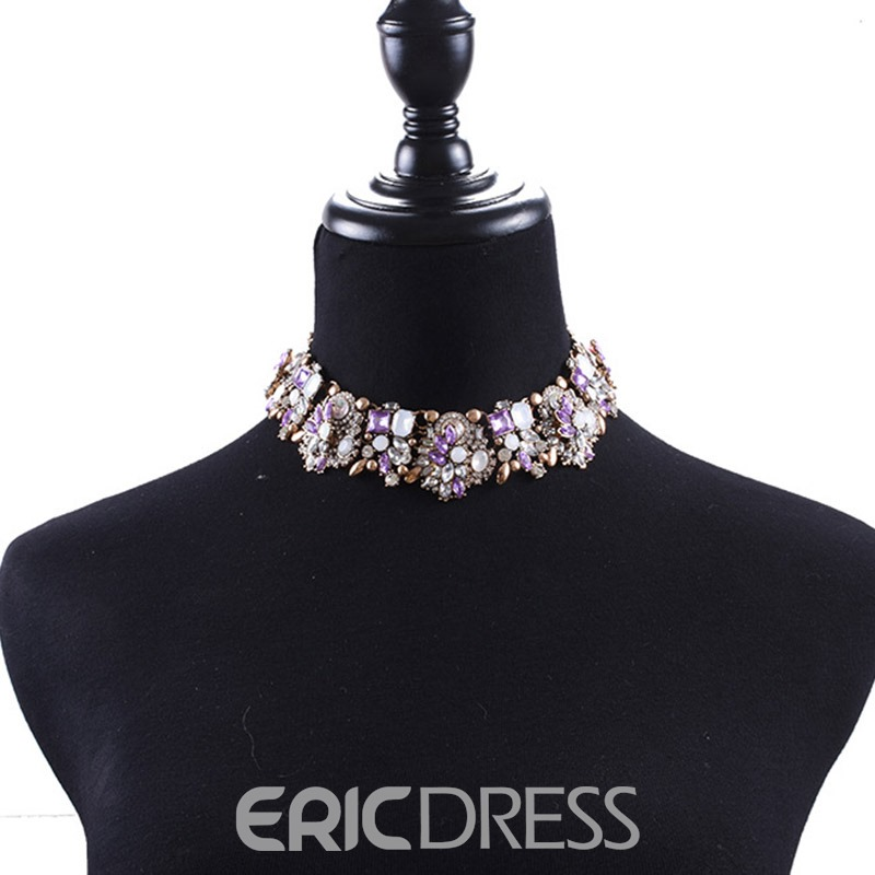 Ericdress Romantic Diamante Female Necklaces