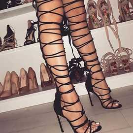 Ericdress Heel Covering Stiletto Heel Open Toe Cross Strap Sandals