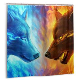 Ericdress Wolf Print Shower Curtain Bathroom Supplies