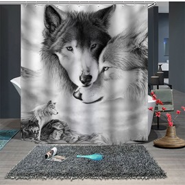 Ericdress Wolfs Princess Print Shower Curtain Bathroom Supplies