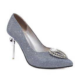 Ericdress Pointed Toe Slip-On Rhinestone Low-Cut Upper Thin Shoes