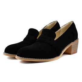 Ericdress Thread Slip-On Round Toe Plain Thin Shoes