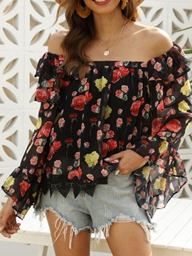 Ericdress Print Long Sleeve Standard Blouse