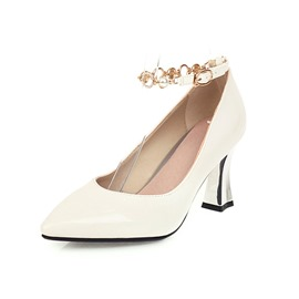 Ericdress Thread Chunky Heel Pointed Toe Casual Thin Shoes