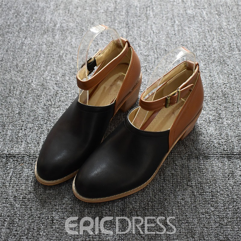 Ericdress Round Toe Thread Line-Style Buckle High Heel (5-8cm) Thin Shoes