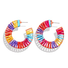 boucles d'oreilles ericdress color block ethnique party