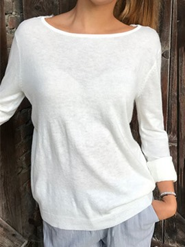 Ericdress Long Sleeve Plain Standard Women's Casual T-Shirt