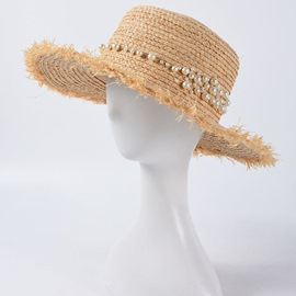 Ericdress Straw Plaited Article Sweet Plain Hats