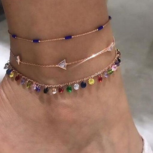 Ericdress Women's Sweet E-Plating Anklets