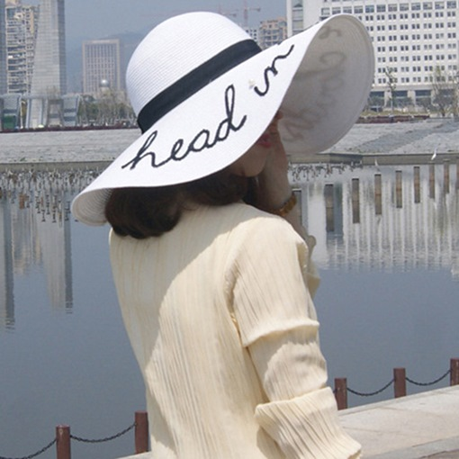Ericdress Straw Hat Sequins Letter Hats