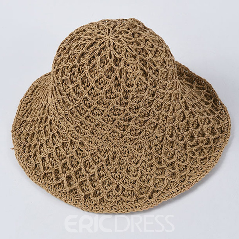 Ericdress Casual Straw Hat Plain Hats