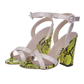 Ericdress Line-Style Buckle Open Toe Chunky Heel Casual Sandals