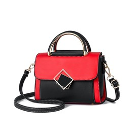 Ericdress Color Block Korean PU Tote Bags