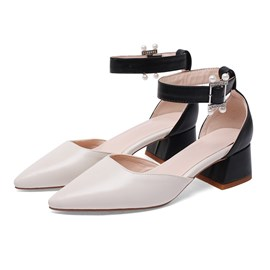 Ericdress Buckle Pointed Toe Heel Covering Women's Casual Sandals