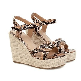 Ericdress Open Toe Buckle Wedge Heel Low-Cut Upper Sandals