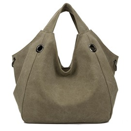 Ericdress European Plain Canvas Tote Bags