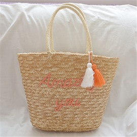 Ericdress Letter Knitted Korean Tote Bags