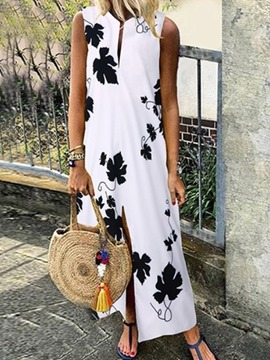 Ericdress Ankle-Length Print Sleeveless A-Line Travel Look Dress