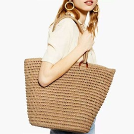 Ericdress Knitted Plain Korean Tote Bags