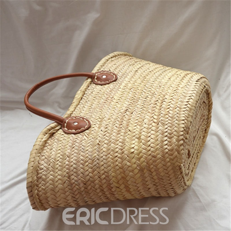 Ericdress Grass Knitted Tote Bags