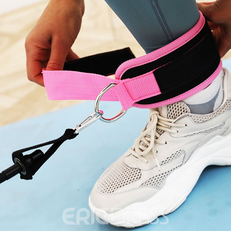 Door Pull Rope Fittings Butt Lift Exercise Elastic Band With Foot Ring Leggings Buckle Ankle Strap Set